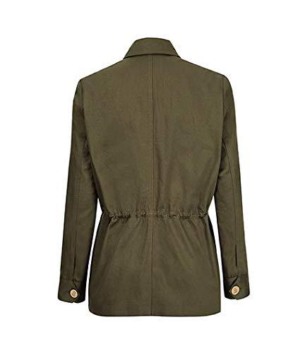 The Tracker Road Master Olive Cotton Jacket back side