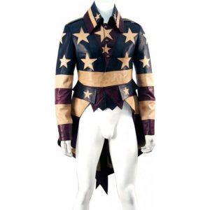 Vintage America Tail Coat Leather Jacket look
