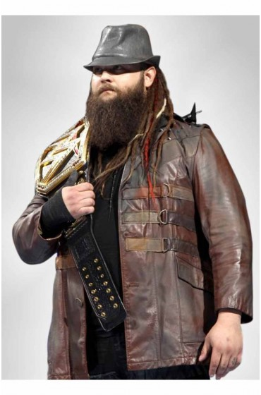 WWE Bray Wyatt Brown Leather Jacket side
