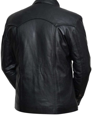Walking Dead David Morrissey Leather Jacket back side