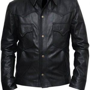 Walking Dead David Morrissey Leather Jacket front