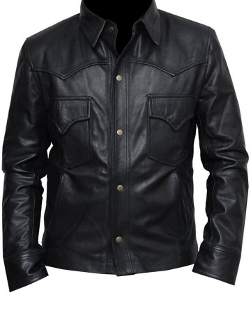 Walking Dead David Morrissey Leather Jacket front