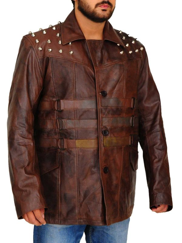 Windham Lawrence Rotunda Studded Leather Jacket