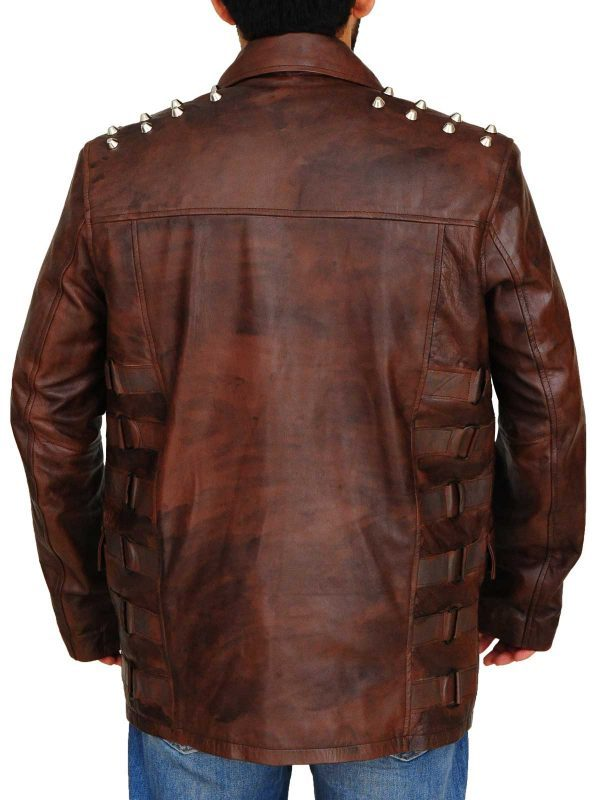 Windham Lawrence Rotunda Studded Leather Jacket back side