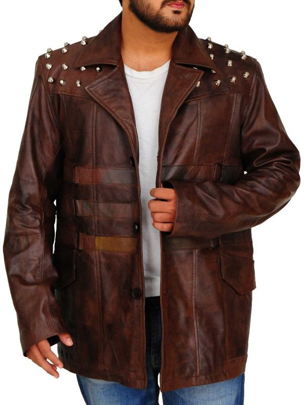 Windham Lawrence Rotunda Studded Leather Jacket front