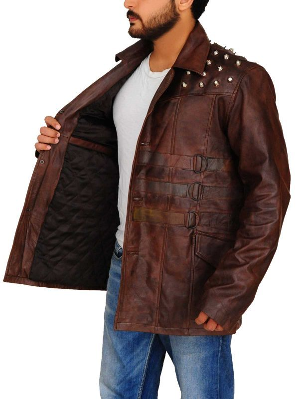 Windham Lawrence Rotunda Studded Leather Jacket side