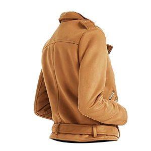Women Genius Brown Biker Leather Jackets side look