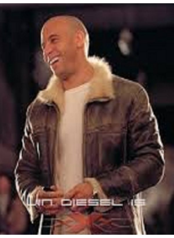 XXX Xander Cage Vin Diesel Distressed Fur Leather Jacket