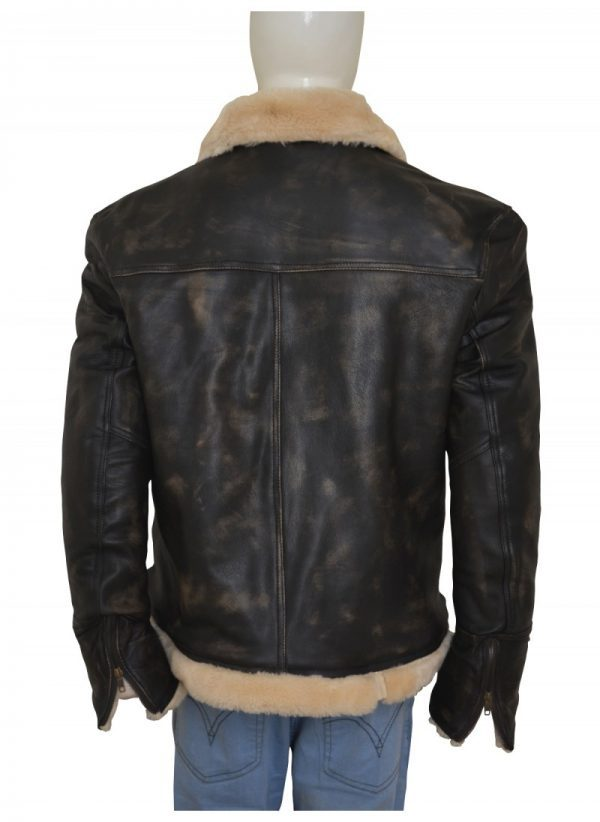 XXX Xander Cage Vin Diesel Distressed Fur Leather Jacket back side