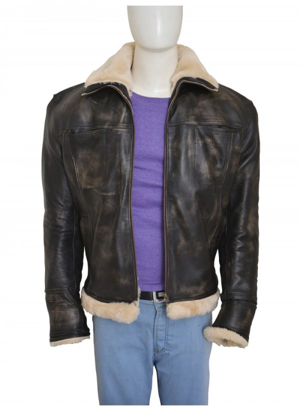 XXX Xander Cage Vin Diesel Distressed Fur Leather Jacket front