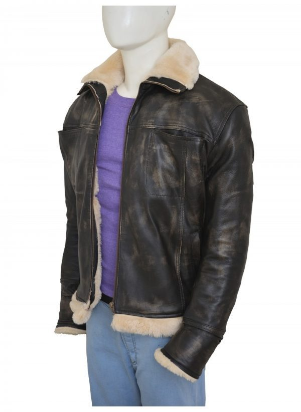 XXX Xander Cage Vin Diesel Distressed Fur Leather Jacket side