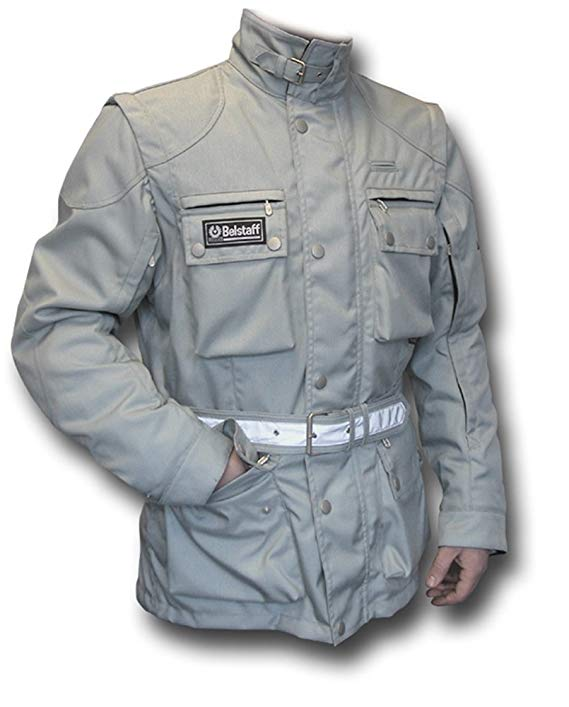 Belstaff Long Way Down Motorcycle Silver Jacket