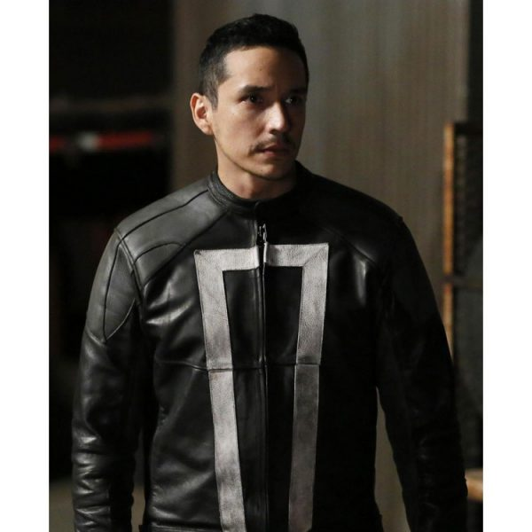 Ghost Rider Agents of Shield Robbie Reyes Leather Jacket front