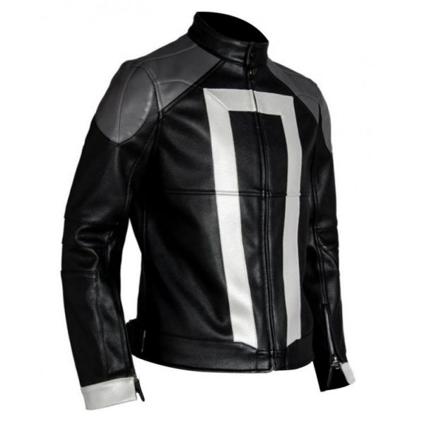 Ghost Rider Agents of Shield Robbie Reyes Leather Jacket side