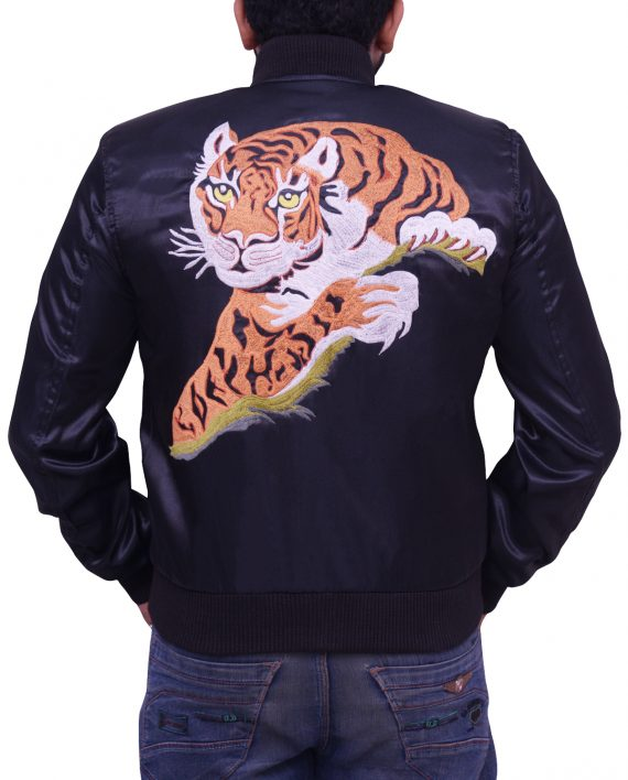 Sylvester Stallone Rocky II Satin Tiger Jacket back