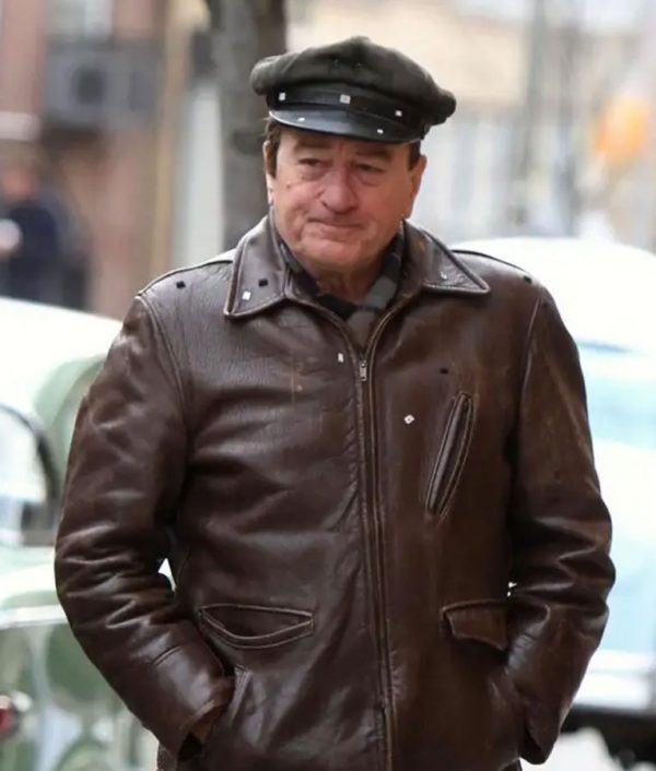 The Irishman Frank Sheeran Brown Leather Jacket front