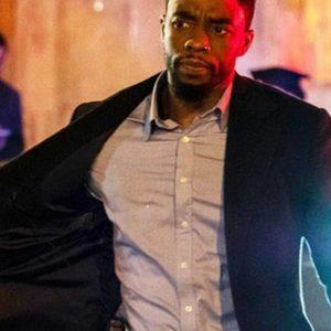 21 Bridges Chadwick Boseman Black Coat