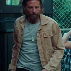 A Star Is Born Bradley Cooper Khaki Cotton Jacket