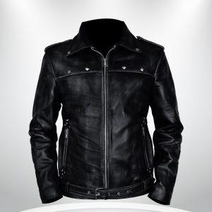 Aaron Paul A Long Way Down Black Biker Jacket