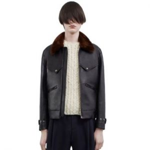 Acne Studios Swedish Fur Collar Leather Jacket