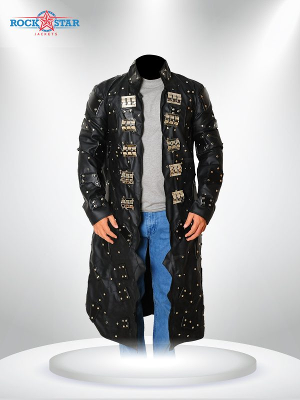 Adam Joseph Copeland Long Black Leather Coat
