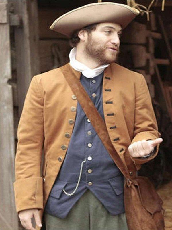 Adam Pally Making History Series Dan Brown Coat back