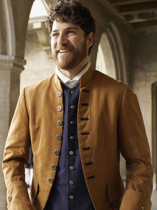 Adam Pally Making History Series Dan Brown Coat open