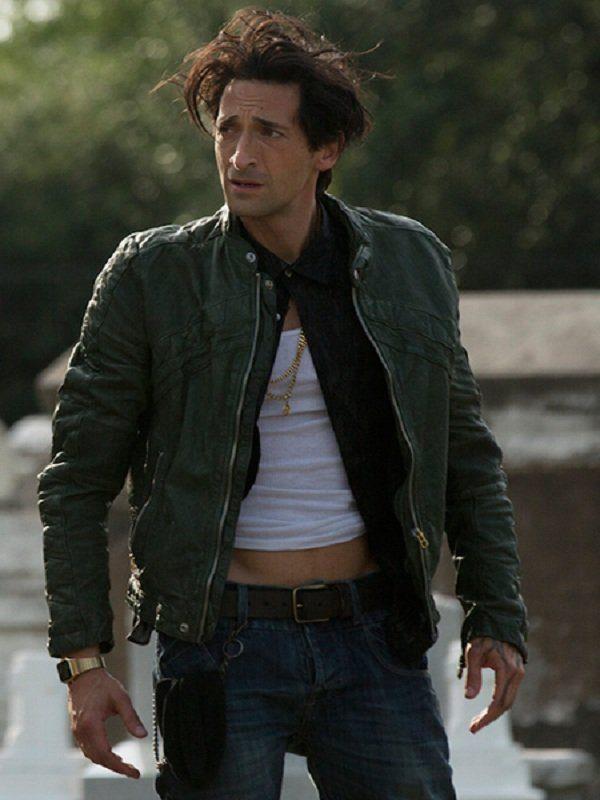 Adrien Brody American Heist Green Leather Jacket