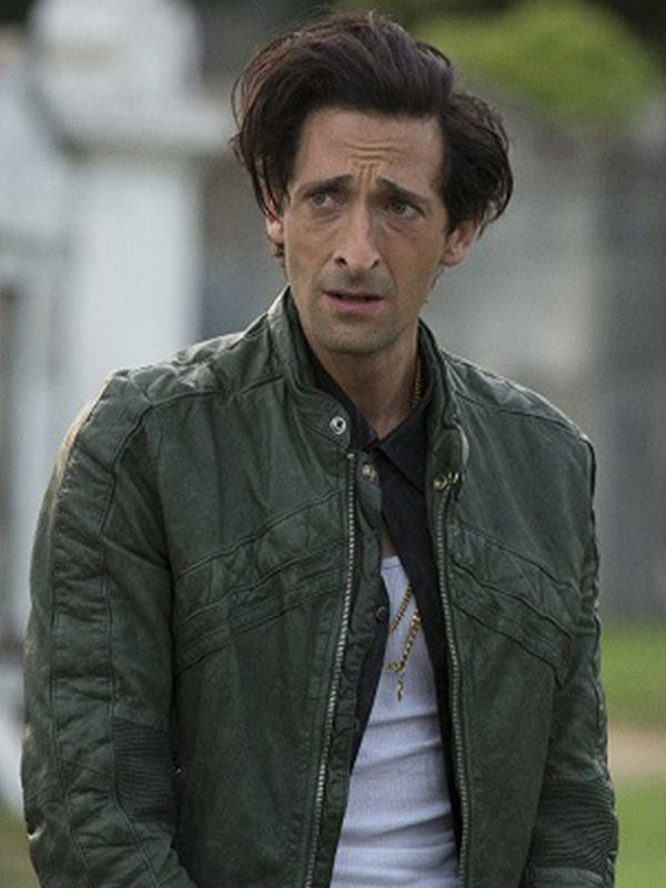Adrien Brody American Heist Green Leather Jacket side