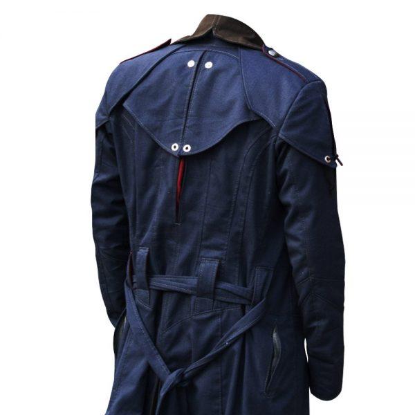Assassin's Creed Unity Arno Victor Dorian Denim Cloak Hoodie Cosplay Coat