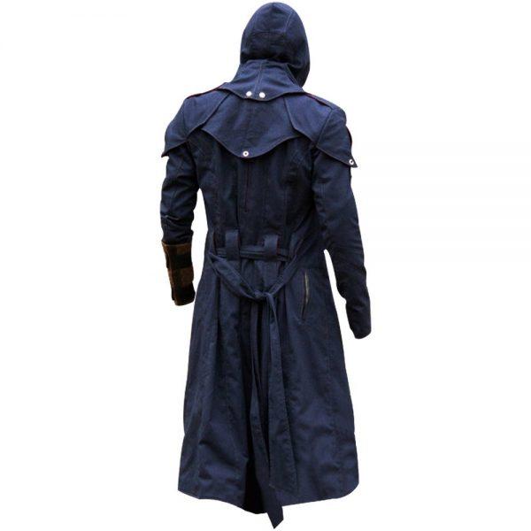 Assassin's Creed Unity Arno Victor Dorian Denim Cloak Hoodie Cosplay Coat back