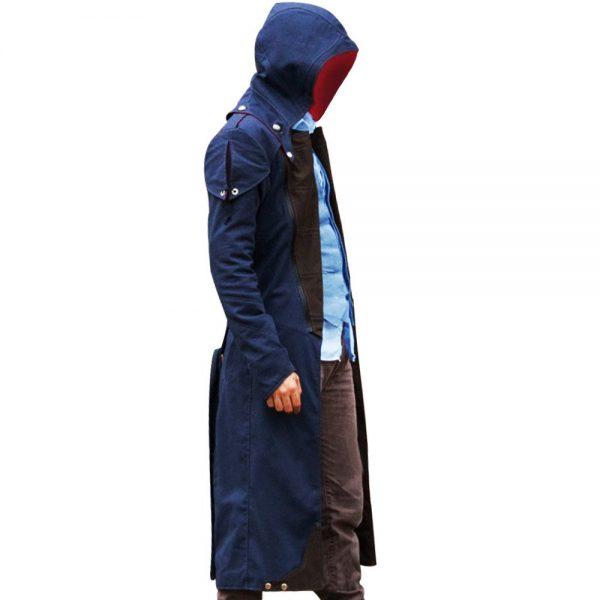 Assassin's Creed Unity Arno Victor Dorian Denim Cloak Hoodie Cosplay Coat side