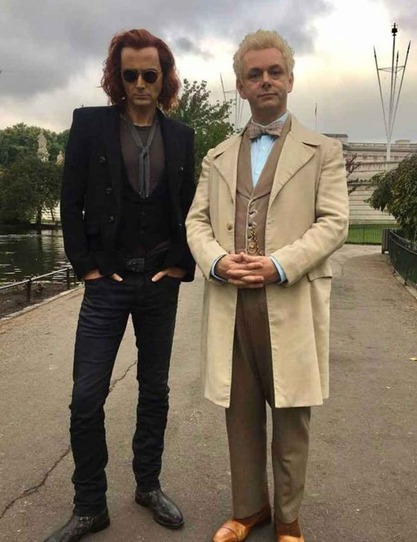 Aziraphale Good Omens Michael Sheen Trench Coat with