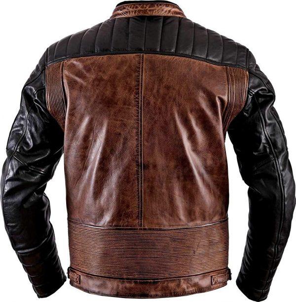 Cafe Racer Antique Brando Vintage Motorcycle Jacket back