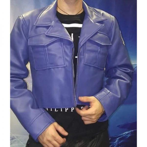 Capsule Corp Dragon Ball Z Future Trunks Purple Blue Jacket