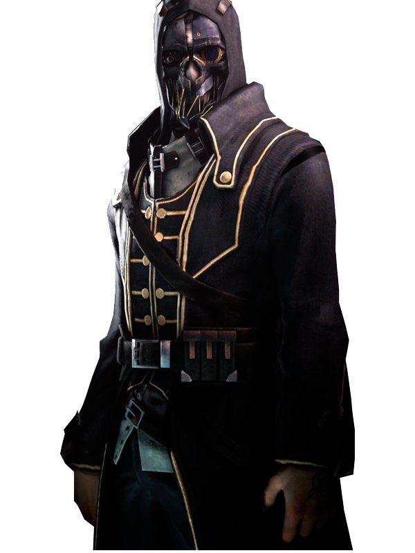 Corvo Attano Dishonored Game Long Black Coat danger