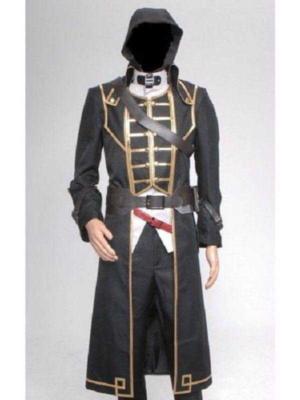 Corvo Attano Dishonored Game Long Black Coat front