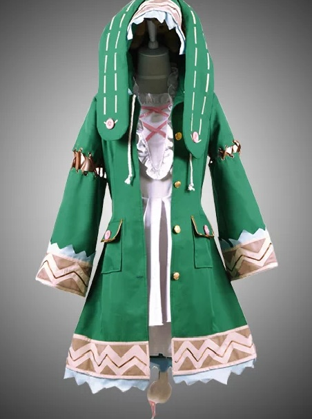 Date A Live Yoshino Green Cosplay Coat front