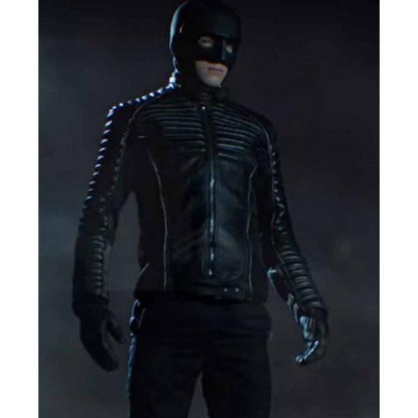 David Mazouz Gotham Season 5 Batman Black Leather Jacket full