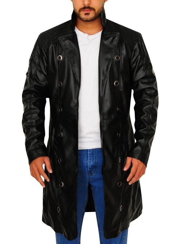 Deus Ex Human Revolution Adam Jensen Long Trench Coat front
