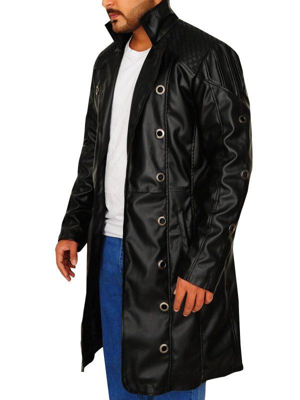 Deus Ex Human Revolution Adam Jensen Long Trench Coat side