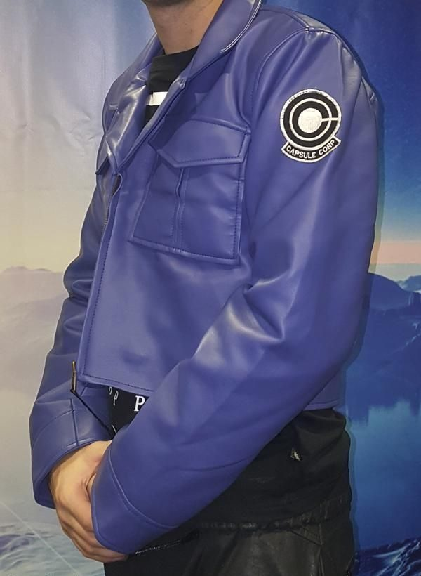 Dragon Ball Z Future Trunks Capsule Corp Purple Blue Jacket
