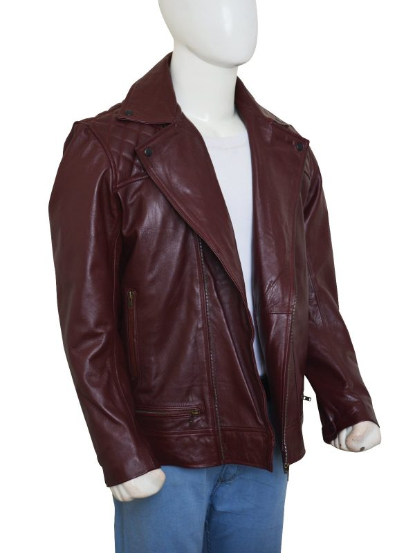 'Edge' Adam Joseph Copeland Maroon Leather Jacket