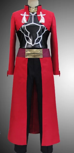 FateStay Night Archer Cosplay Red Coat front