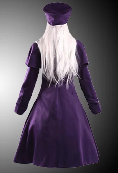 FateStay Night Illya Purple Cosplay Coat back