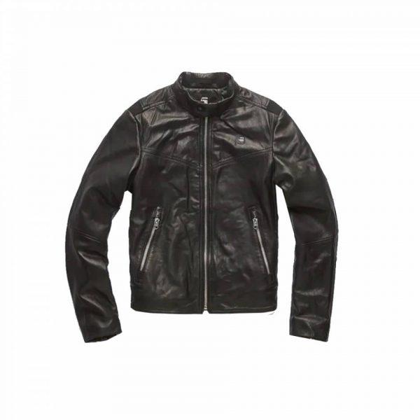 G-star Biker Style Black Leather Jacket