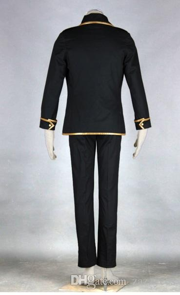 Gin Tama Shinsengumi Toushiro Hijikata Black Cosplay coat back