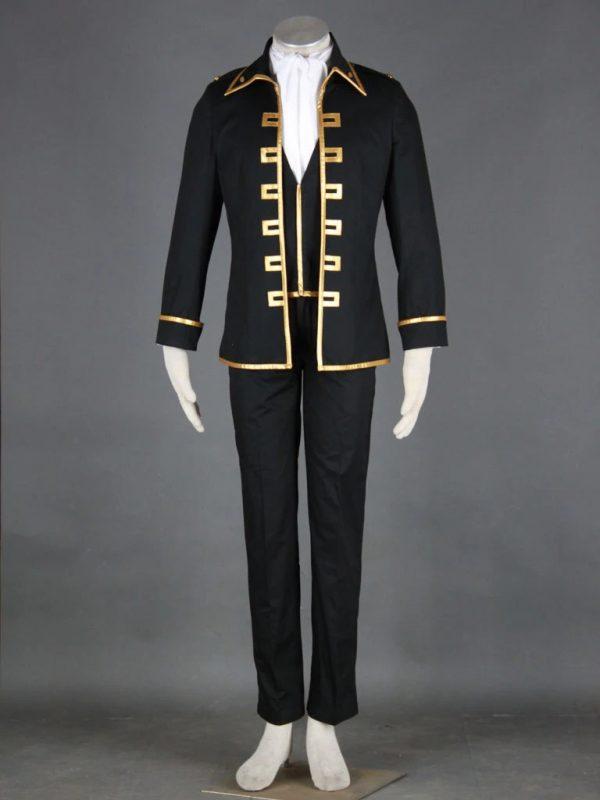 Gin Tama Shinsengumi Toushiro Hijikata Black Cosplay coat front