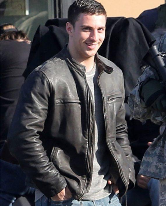 Godzilla Aaron Taylor-Johnson Black Leather Jacket side