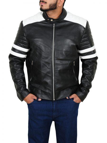 Ian Nerve Dave Franco Biker Leather Jacket front